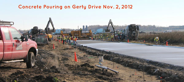 2012 Gerty Road Pouring