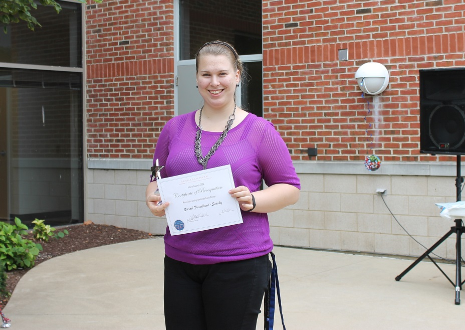 Sarah Frankland-Searby, Most Outstanding Undergraduate