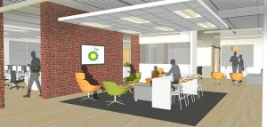 Rendering of BP information technology center at UIRP