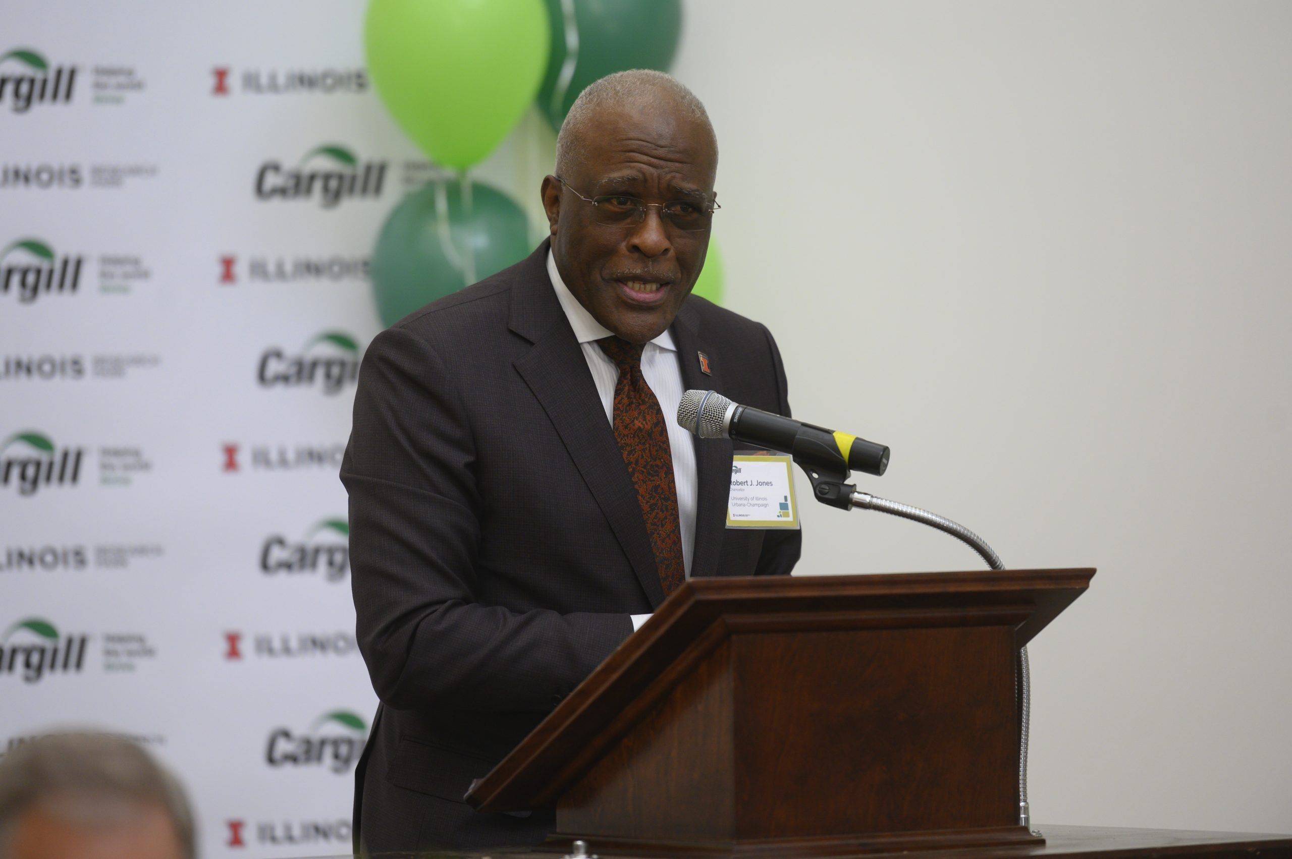 Chancellor Jones speaking at the grand opening