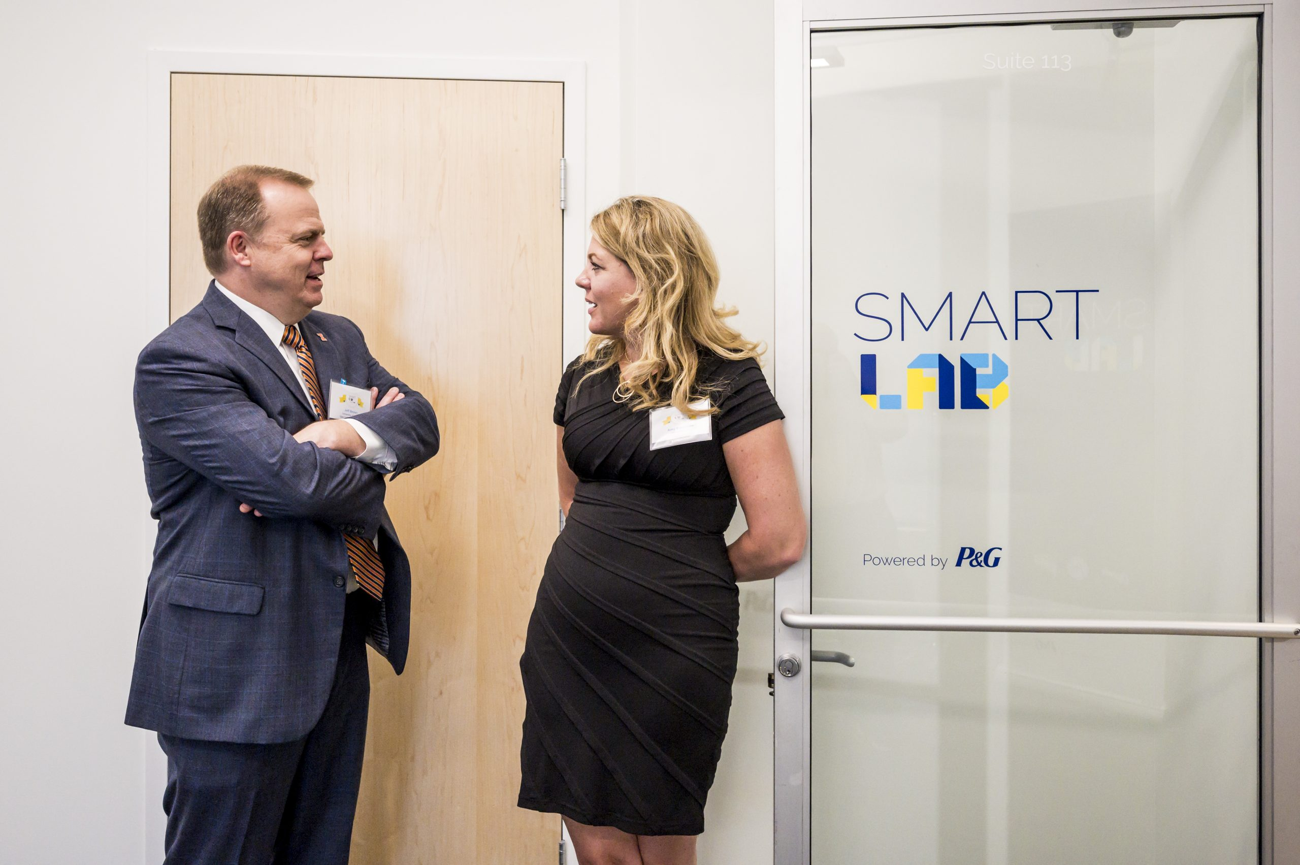 People conversing at the Smart Lab