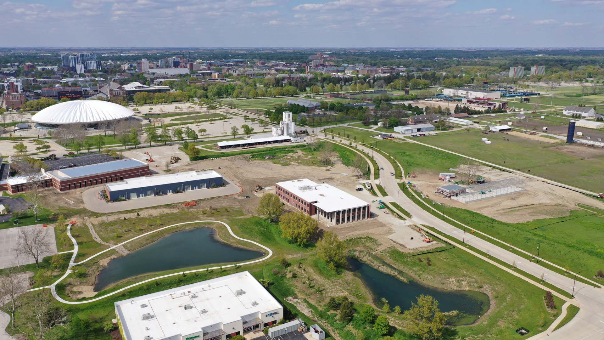 Bird's-eye View of Northeast of Research Park