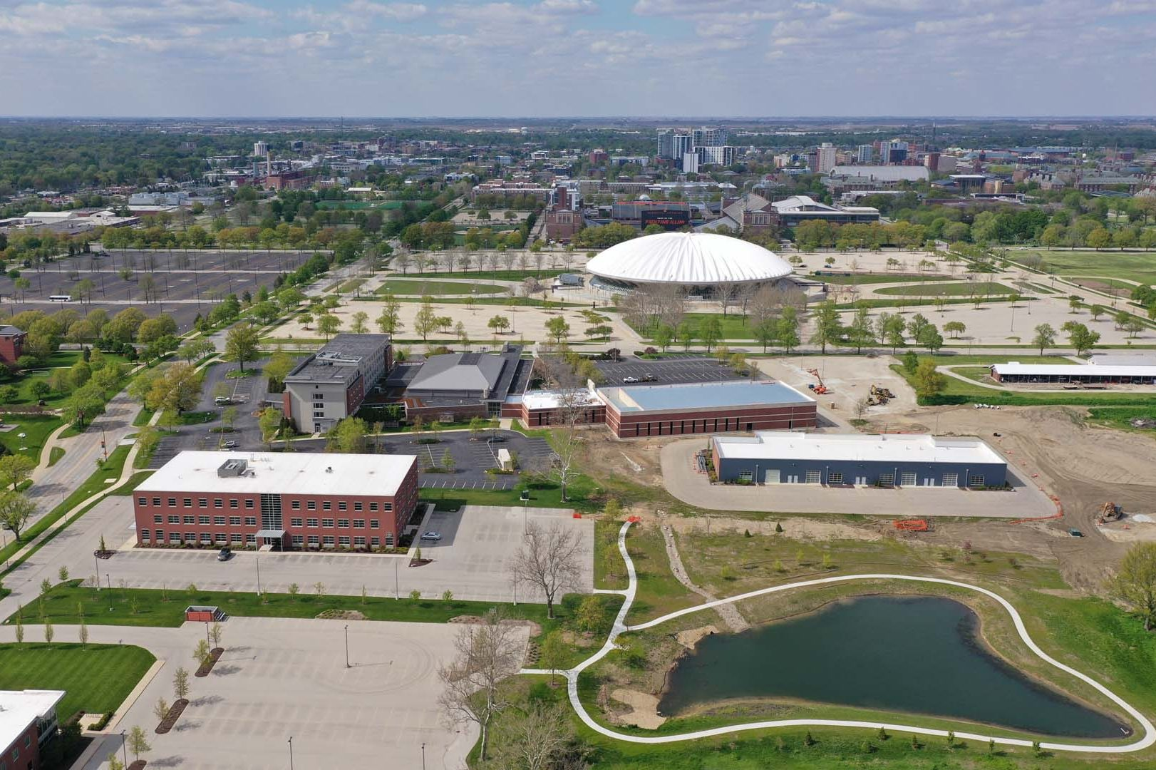 Bird's-eye View of North of Research Park