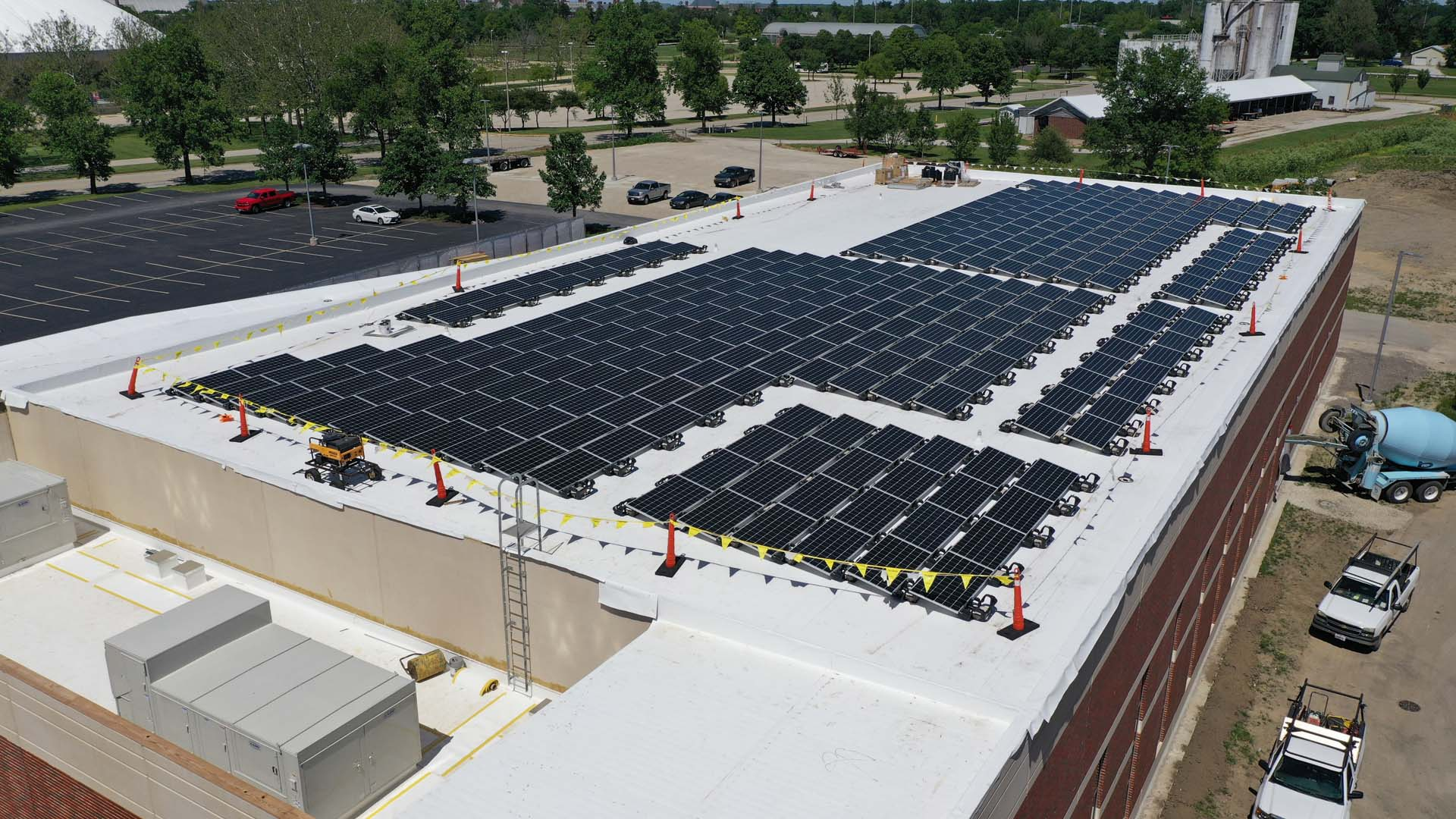 View of solar panels on I-Hotel and Conference Center