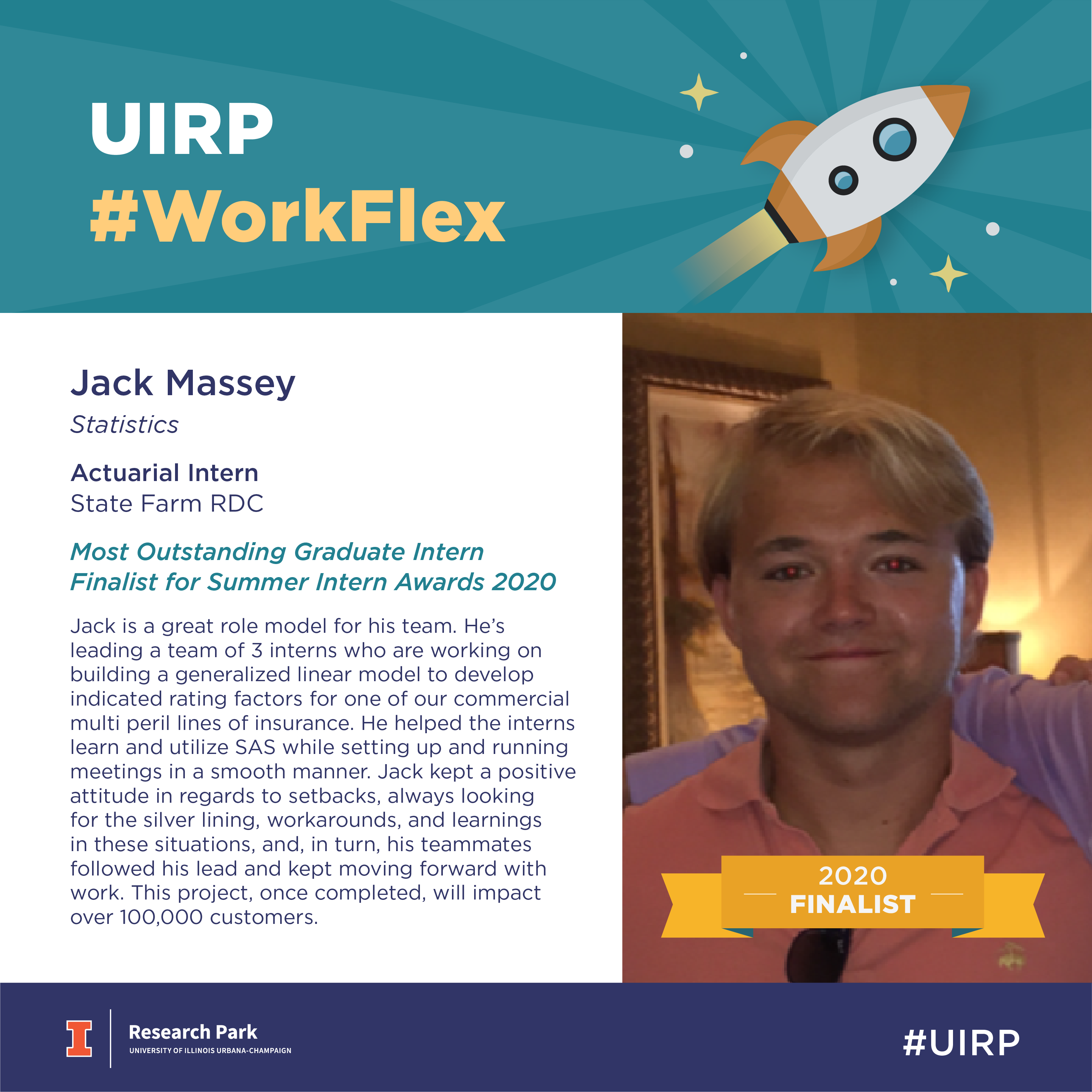Jack Massey, Actuarial Intern at State Farm RDC