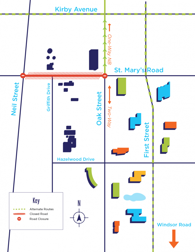 St. Mary's Road Construction Alternate Routes