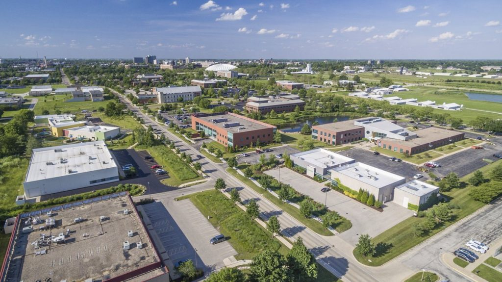 Ariel view of The Research Park